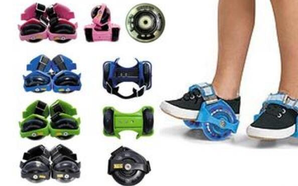 Flashing Rollers. Originales patines adaptables a las zapatillas.