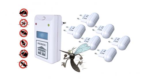 Pack de 5 Antimosquitos + Riddex