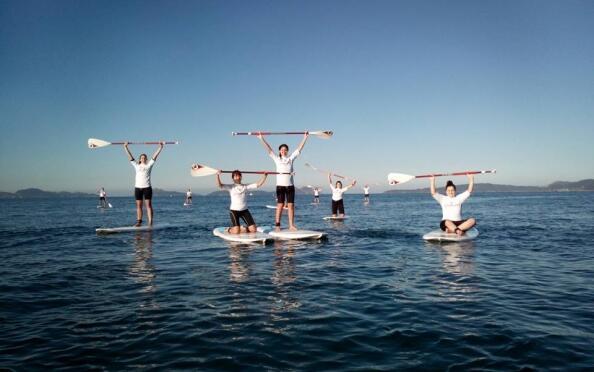 Curso de iniciación al Paddle Surf para 1 o 2 personas. Samil.