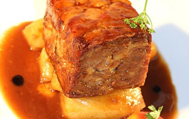 Menú degustación con Carpaccio de pulpo, Cordero lacado, Fish and Chip Bacalao .....