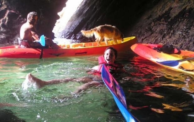 Kayak en O Barqueiro -Estaca de Bares