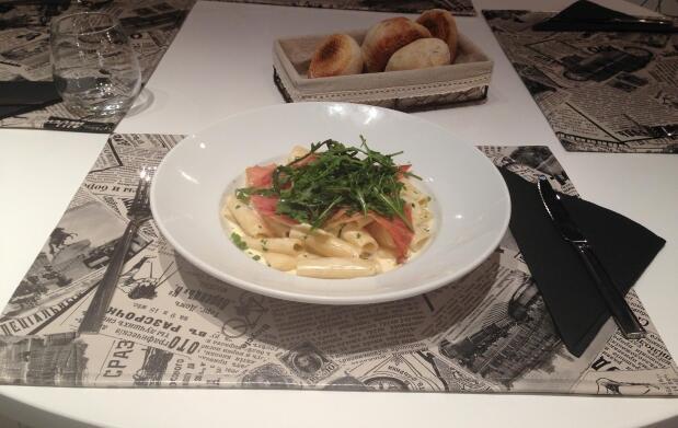 Sabroso menú italiano para 2