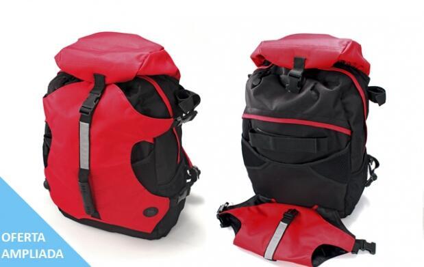 Set Trekking:mochila, bastón, Kit emergencia