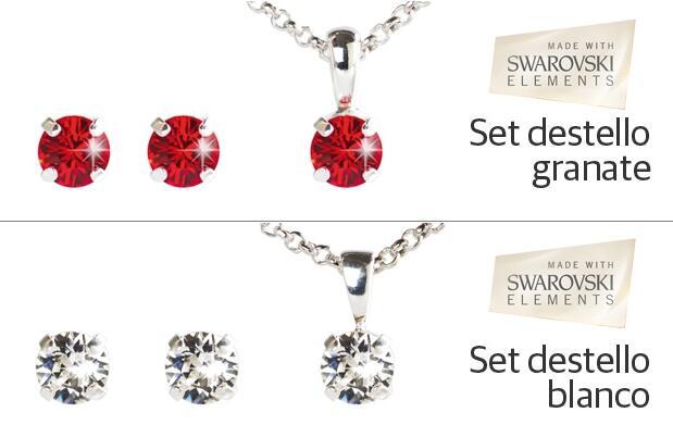 Set destellos made with Swarovski ® elements