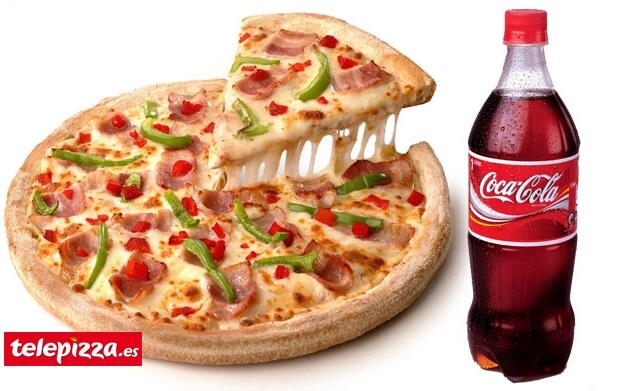 Pizza grande 3 ingred.+ refresco de 1l.